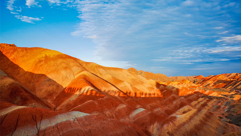 zhangye danxia landform on silk road