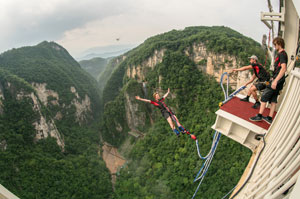 Bungee Jumping at Zhangjiajie Grand Canyon Glass Bridge