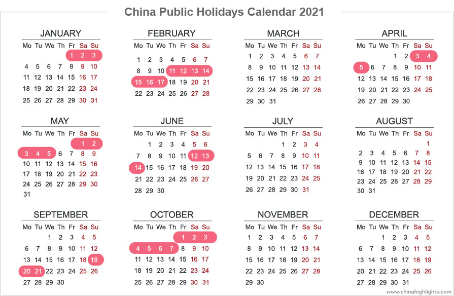 chinese holiday calendar