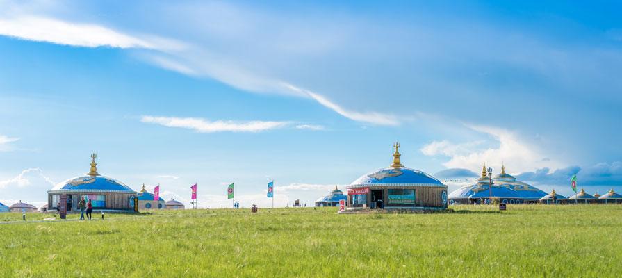 Grassland and Mongolia Yurt