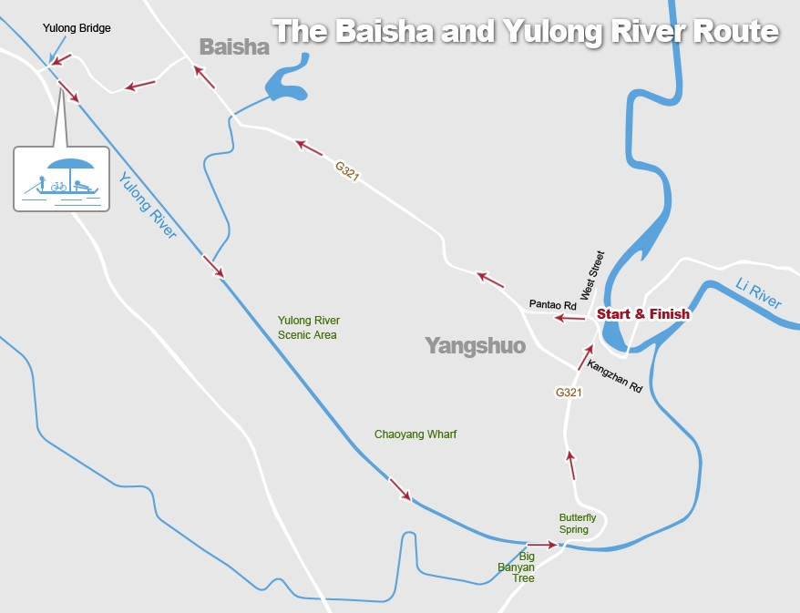 The Baisha and Yulong River Cycling Route