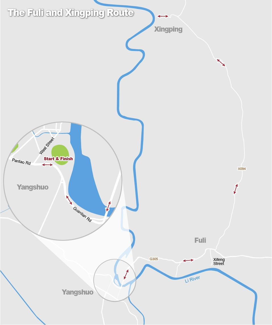 The Fuli and Xingping Cycling Route