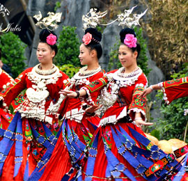 Chinese ethnic minority travel, the miao people in Guizhou Province