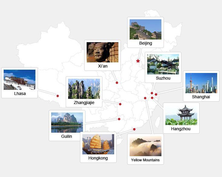 China main cities map
