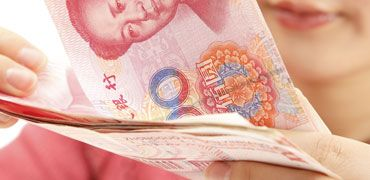 Chinese money notes