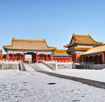 China winter travel destinations, the snow-capped Forbidden City