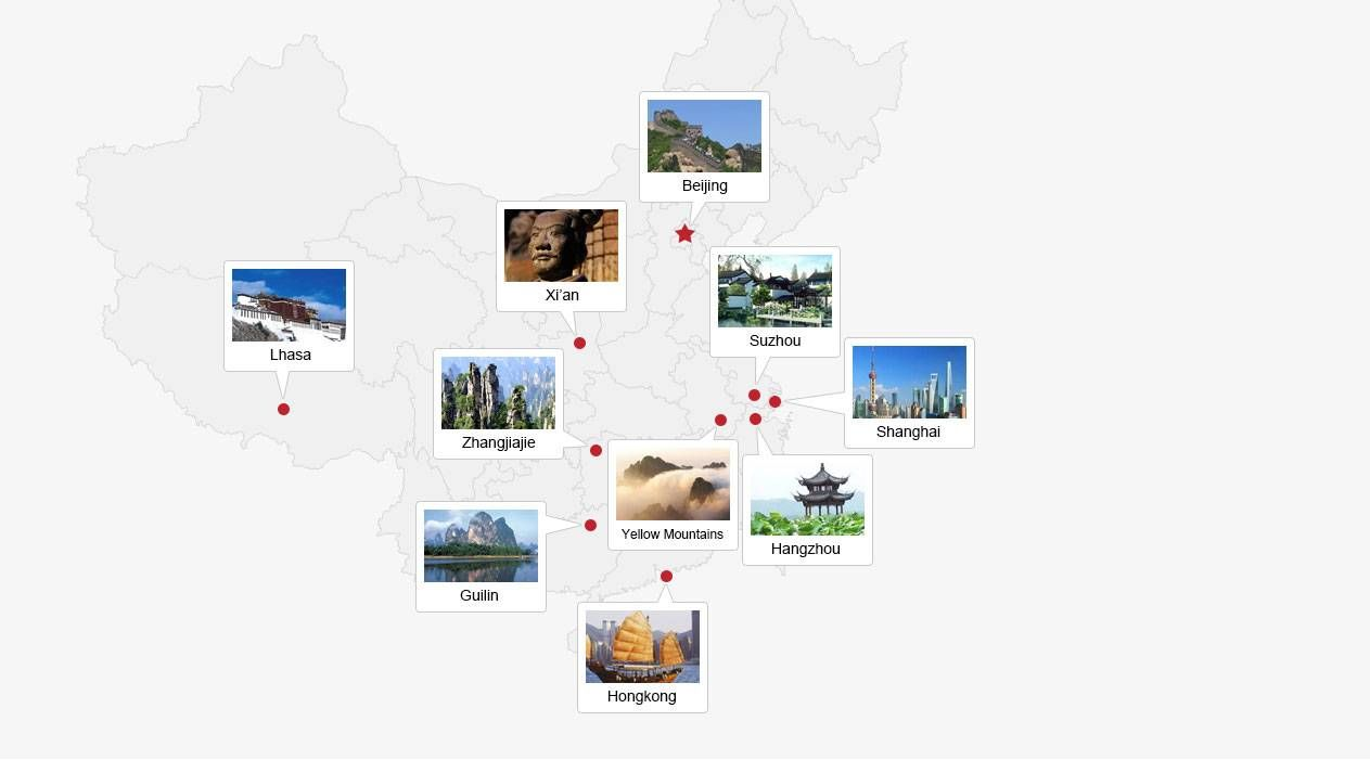 top China tour destinations