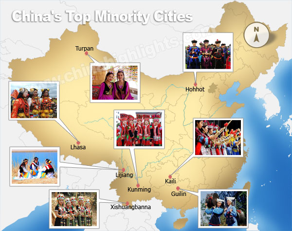 Best places to see minority people
