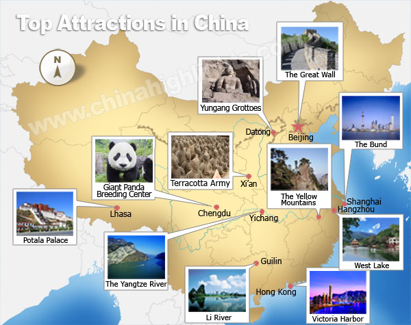 Top places to see in China