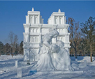 the snow sculpture in Harbin