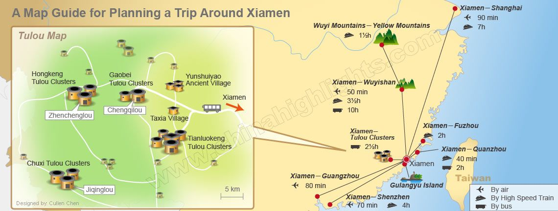 xiamen guide map
