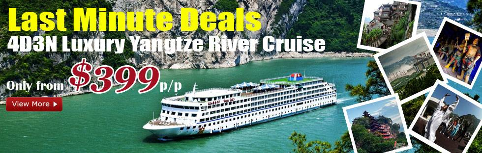Yangtze River cruise deals, only from #399