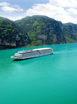cruise ship on the Yangtze River
