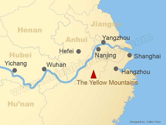 Map of the Lower Reaches of the Yangtze