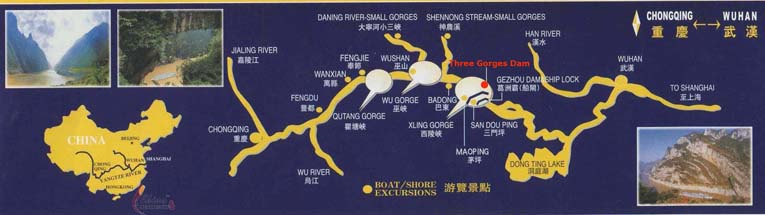 Map of the Three Gorges